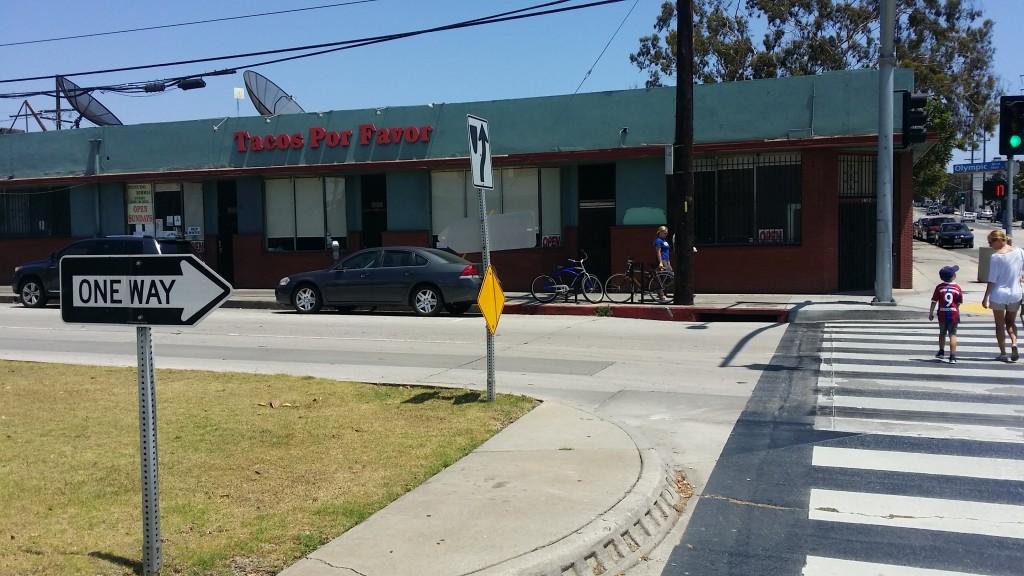 "Restauracja meksykańska ""Tacos Por Favor"" w Santa Monica."