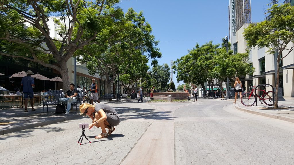 Moje vlogowe próby na Third Street Promenade w Santa Monica