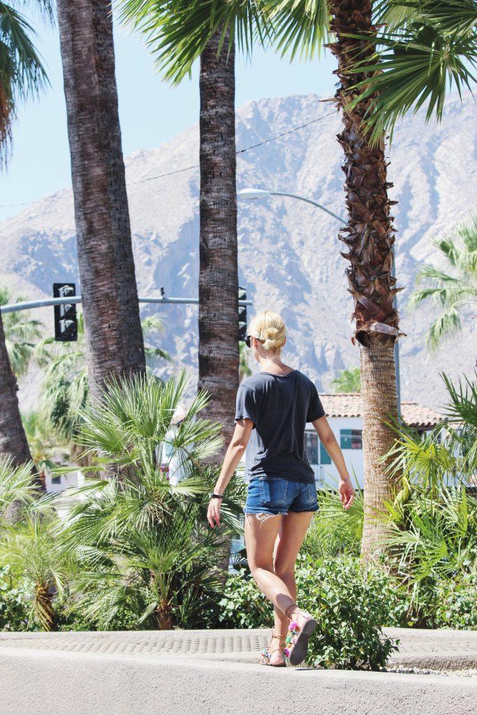Jeansowe szorty w Palm Springs