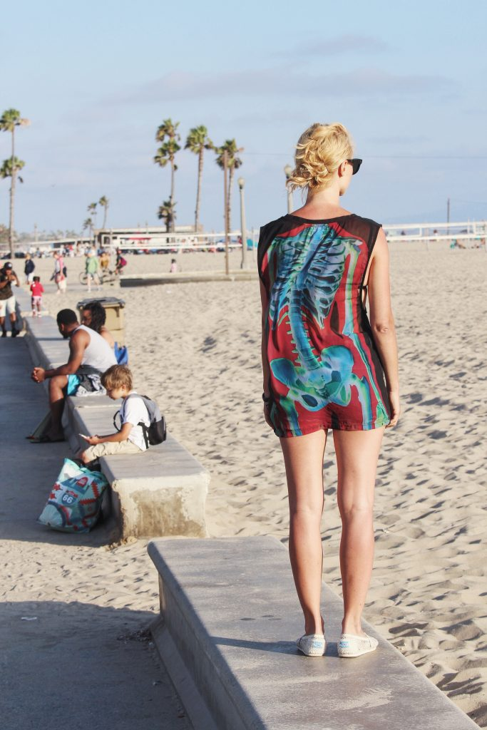 Toms na plaży w Santa Monica