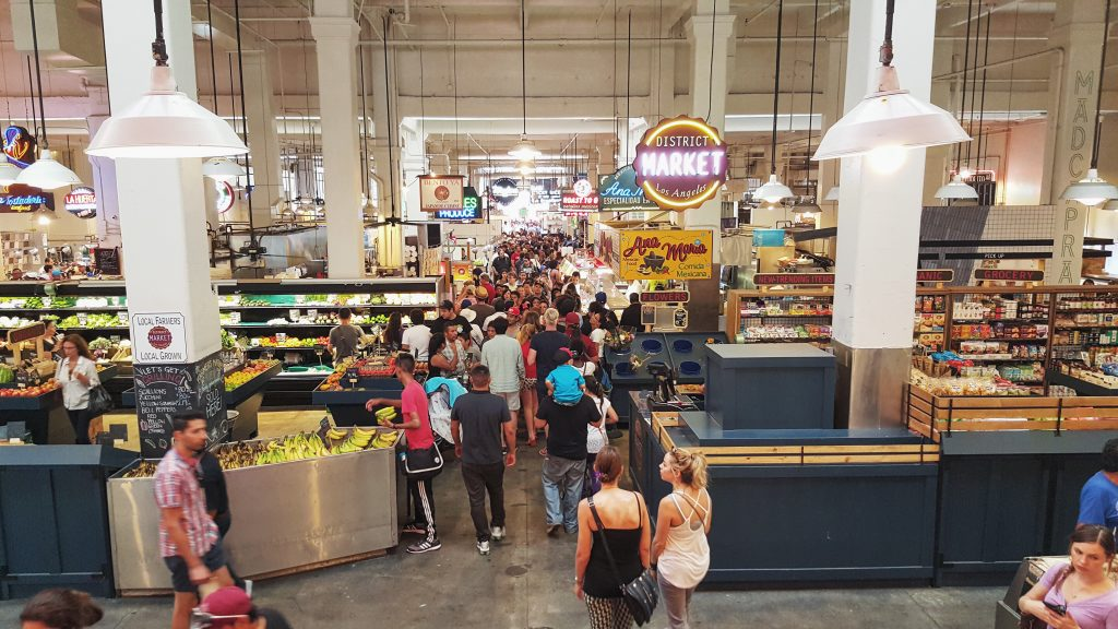Targ na Grand Central Market w Los Angeles