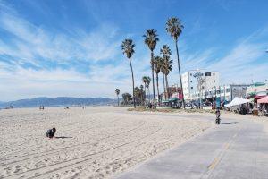 Kalifornia, Venice Beach, ścieżka rowerowa