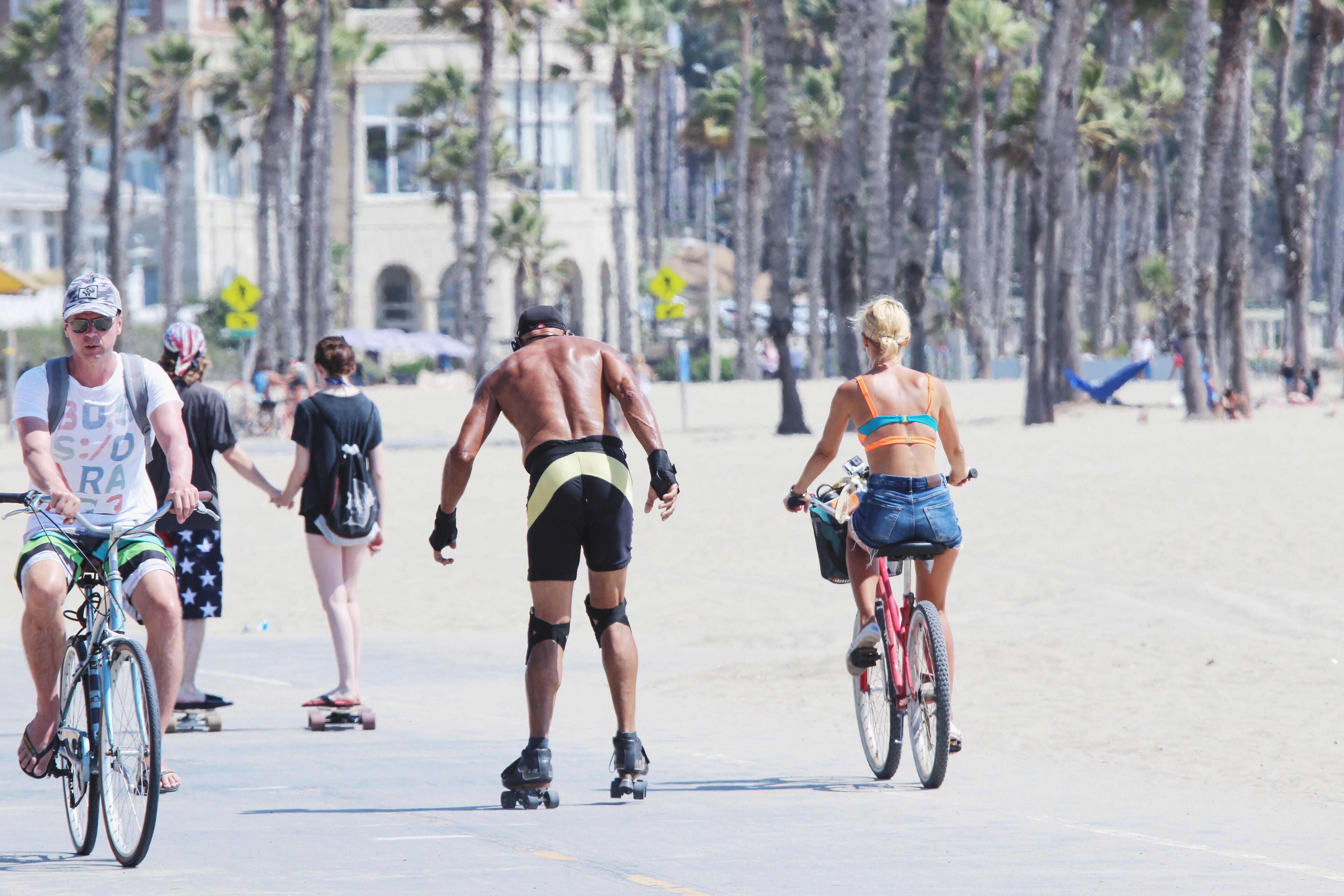 Kalifornia, Plaża i ścieżka rowerowa w Santa Monica