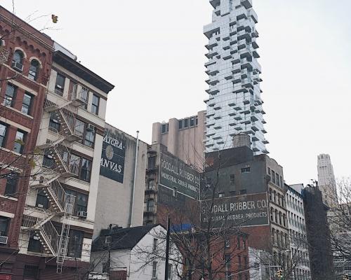 USA, Nowy Jork, Tribeca, Jenga Building