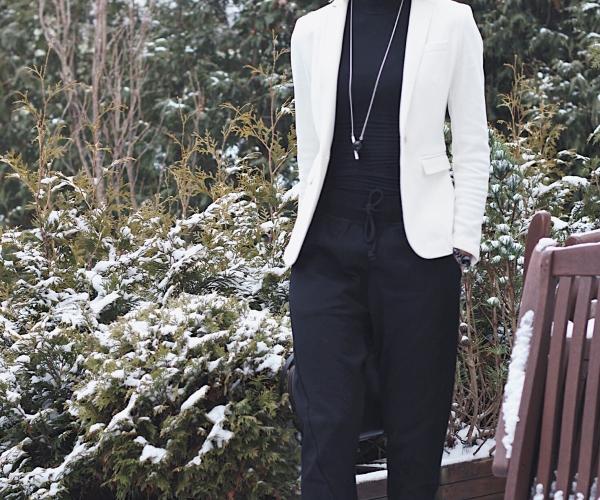 Spodnie XBYO Adidas Originals w codziennej stylizacji